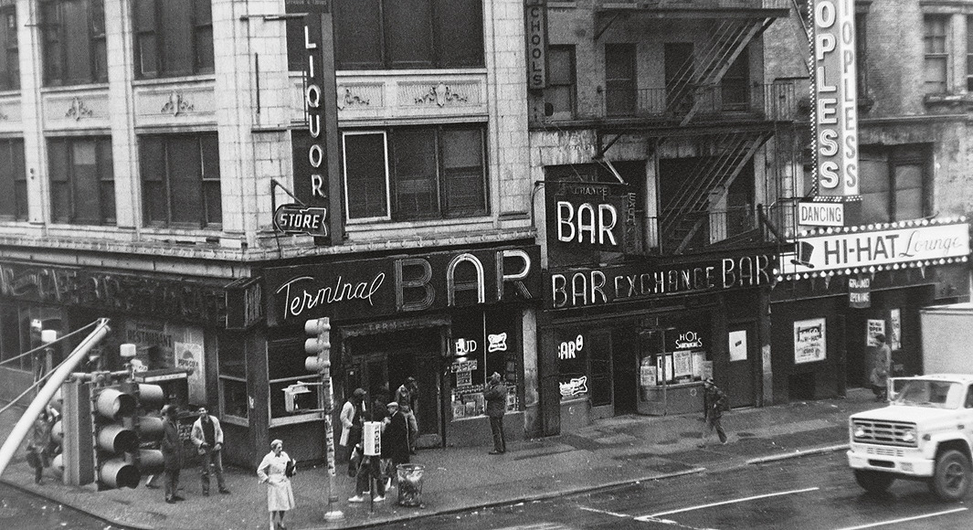 The bar shot from the Port Authority, 1981.