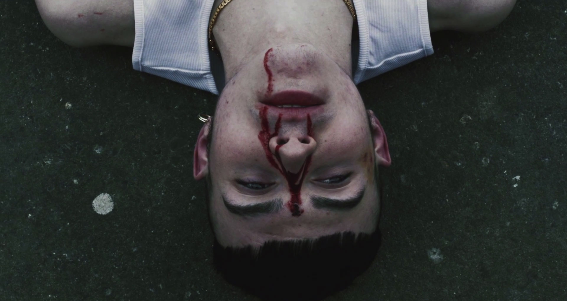 Still from Jeremy Cole's Young Fathers Shame Music Video
