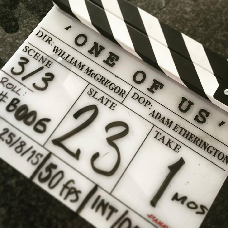 One of Us clapper board