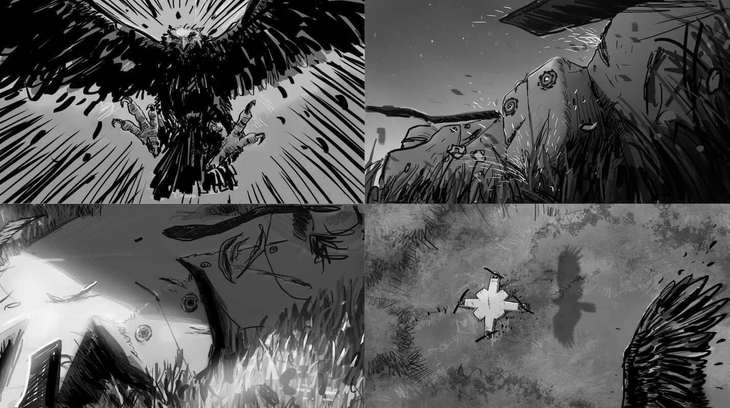 Donny-the-drone-storyboard
