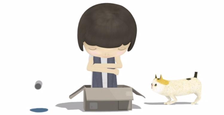 Cat picks up the girl - Yuan Chiu Wu