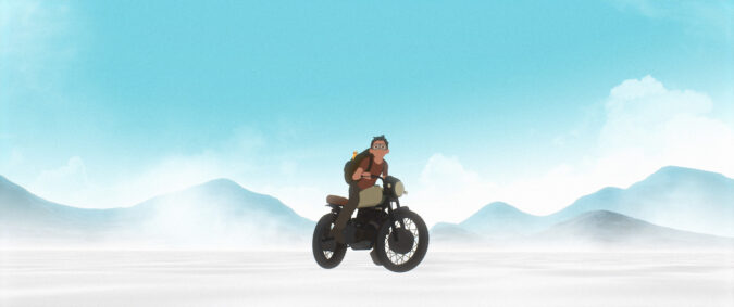 Still from Away an animated feature by Gints Zilbalodis