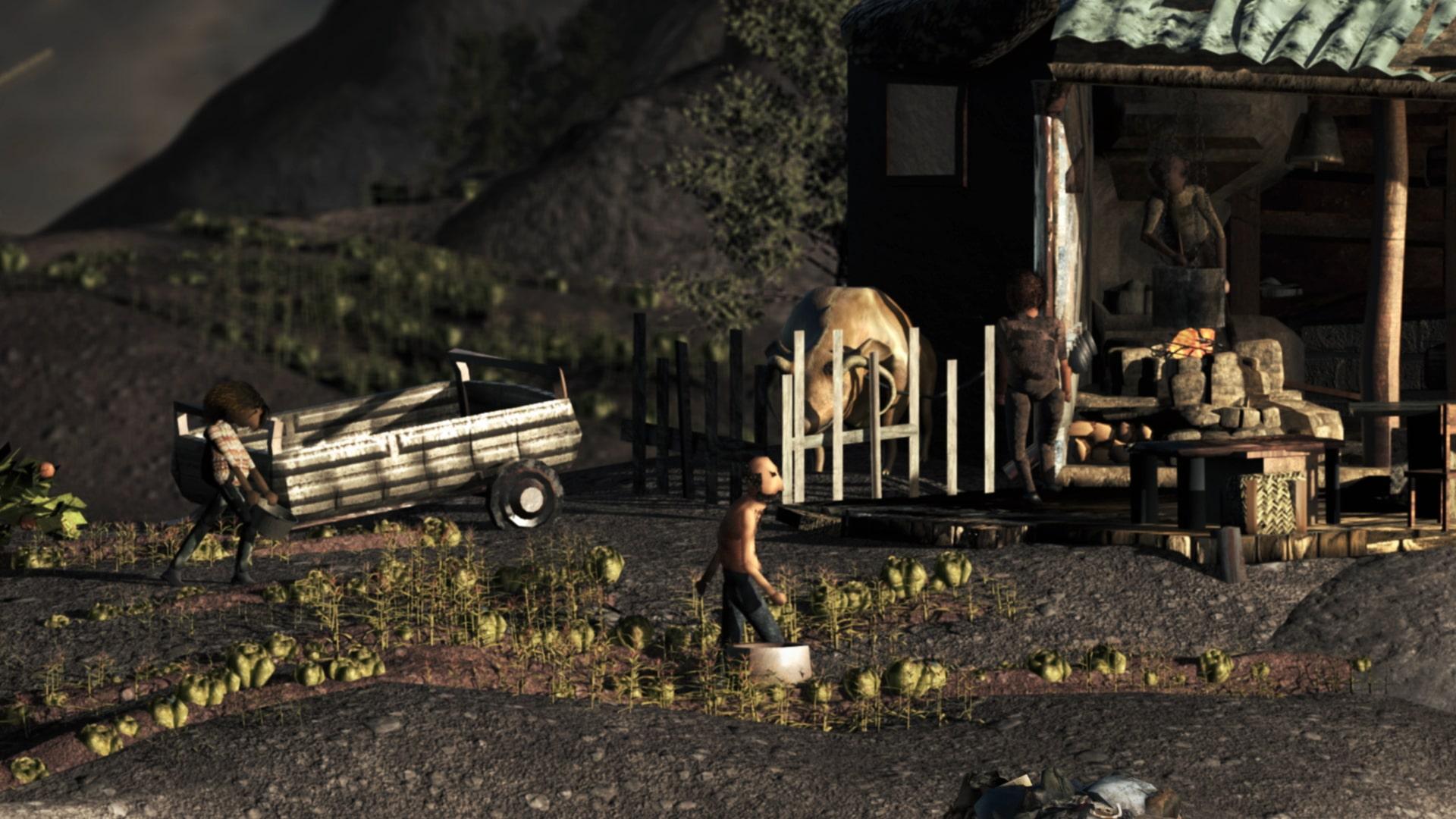 Still from Toby Auberg's short film Pile