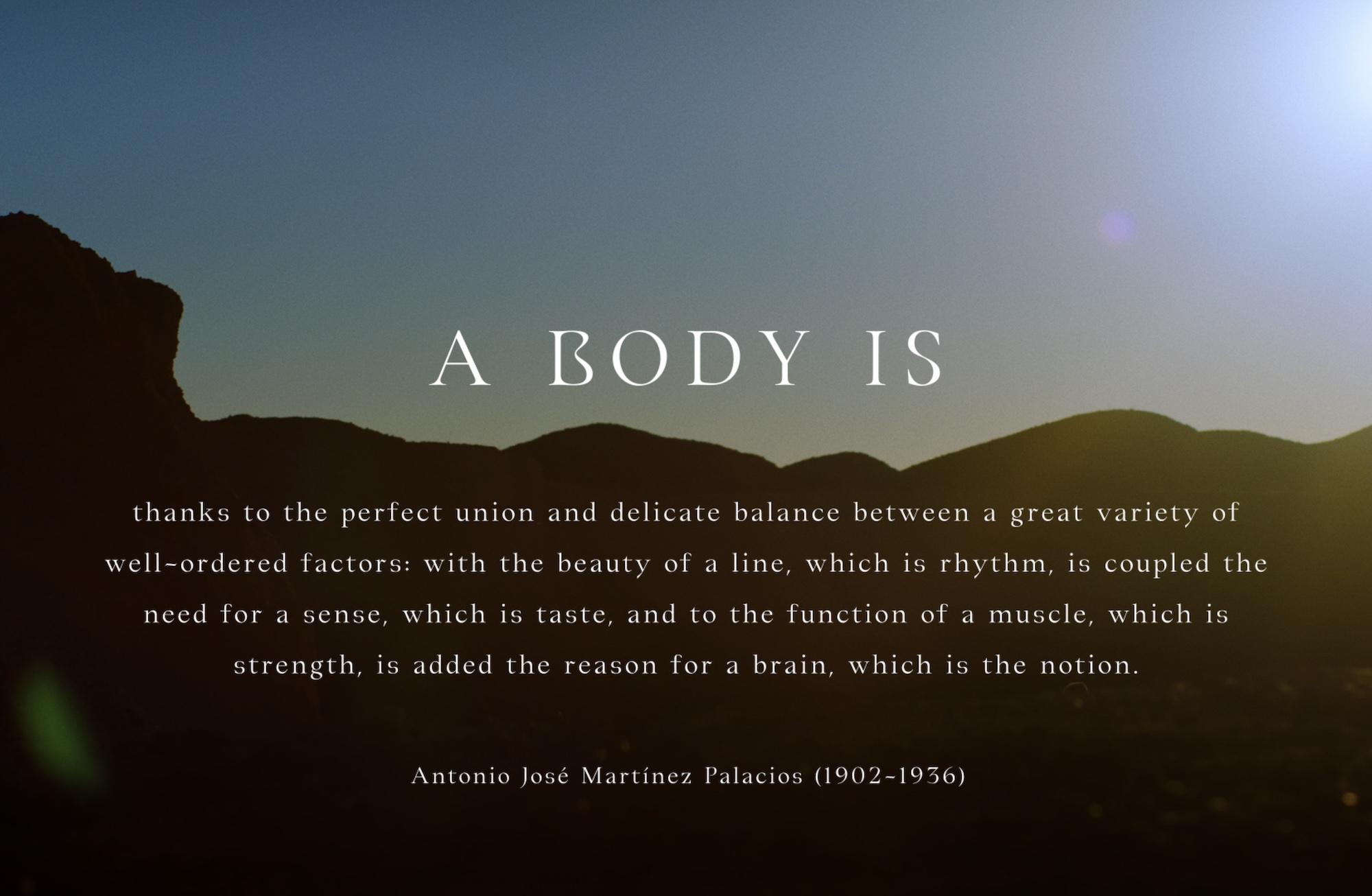 A Body Is